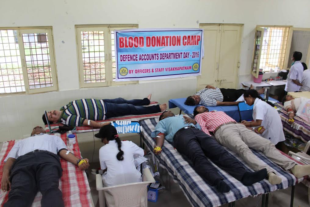 Blood Donation Camp by Defence Accounts Department
