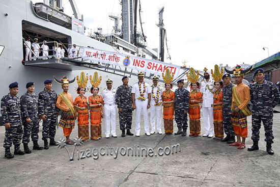 Eastern Fleet Ships Arrive Makassar, Indonesia