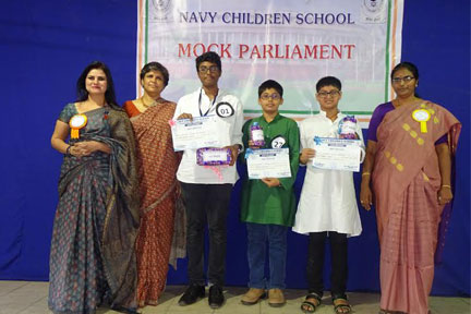 NAVY CHILDREN SCHOOL HOSTS A MOCK PARLIAMENT