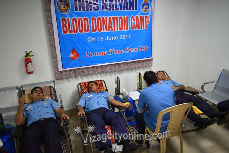 NAVY ORGANISES BLOOD DONATION CAMP