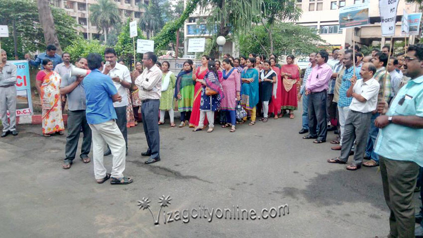 Protest against Privatisation of DCI At DCI Head Office Today