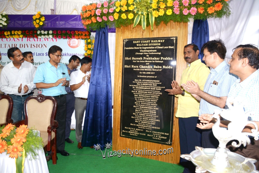 A NEW ERA OF RAIL DEVELOPMENT Foundation stone laid for Wagon POH work shop and Augmentation of DLS at VIsakhapatnam