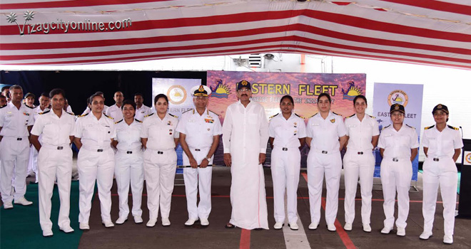 Vice President visits Eastern Naval Command (ENC)