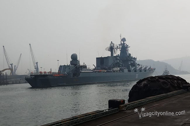 Russian Federation Navy Ships arrive Visakhapatnam to participate in Indra Navy 2018