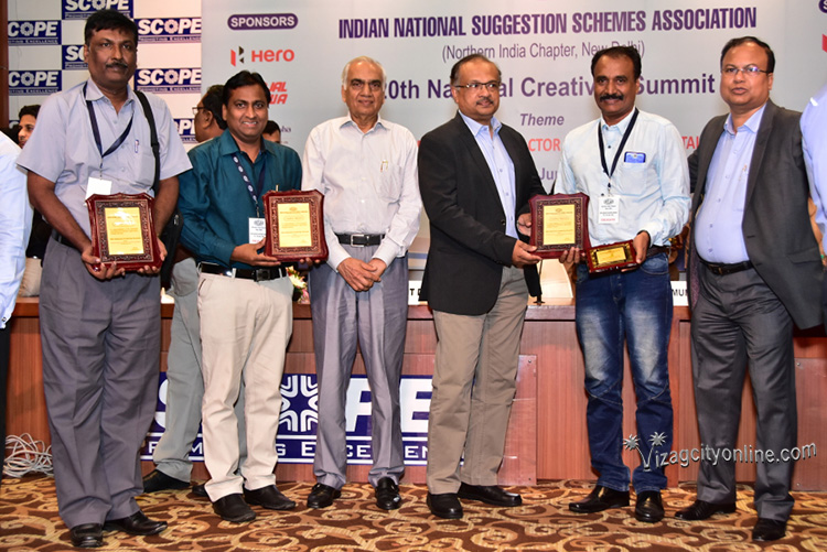RINL employees brought laurels at national level